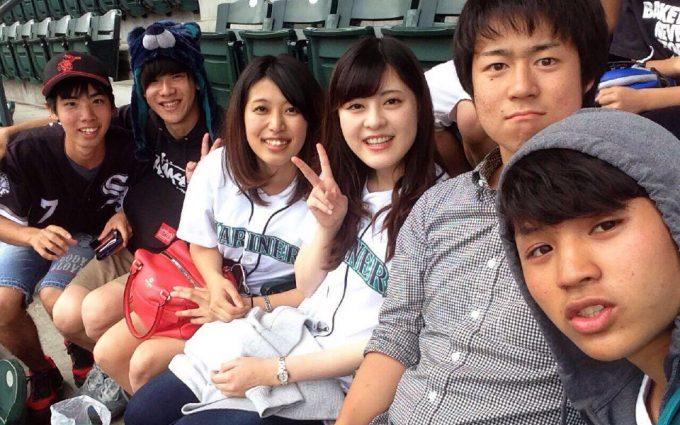 野球観戦の写真